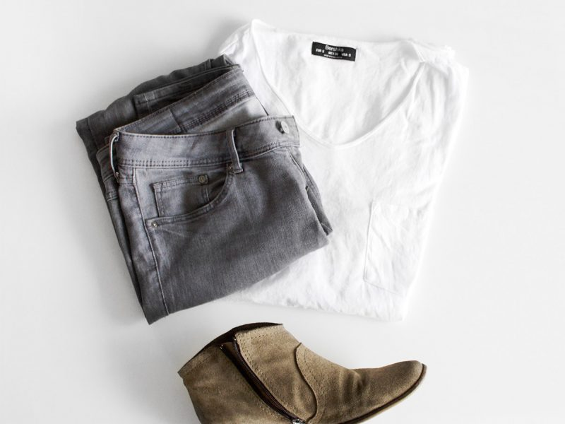 Jeans, Shirt & Shoes
